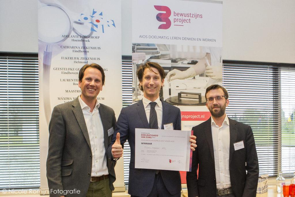 Aios Michiel Hageman wint de Doelmatigheidsprijs 2017 - © Nicole Romijn