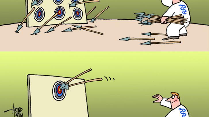 Doelmatigheid - cartoon Arend van Dam